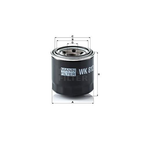 Kraftstofffilter Mann-filter WK 812 für Daihatsu Toyota Hino Case Ih Hitachi Jcb