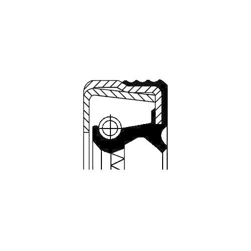 Wellendichtring Differential Corteco 12014741B für Iveco Carraro Hinterachse