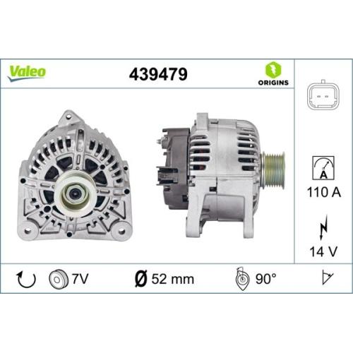 Generator Valeo 439479 Valeo Origins New für Renault