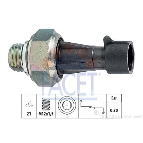 Interruttore A Pressione Olio Facet 7.0097 Made In Italy - Oe Equivalent per