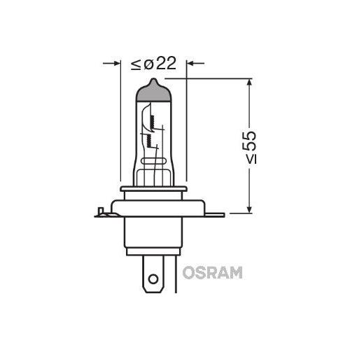 1 Bulb, spotlight OSRAM 64193 ORIGINAL for