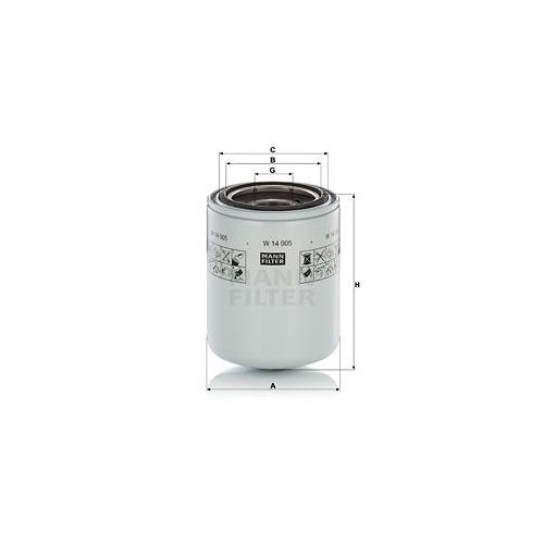 Filter Arbeitshydraulik Mann-filter W 14 005 für Steyr Case Ih