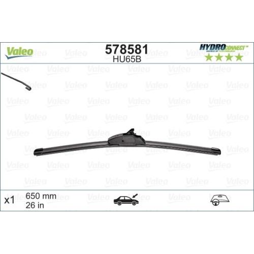 Wischblatt Valeo 578581 Hydroconnect für Peugeot Beifahrerseitig