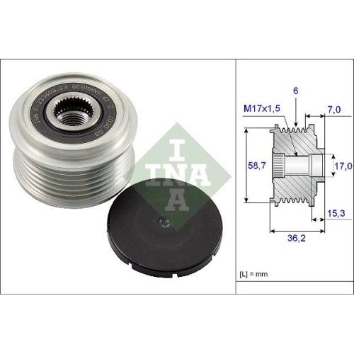 1 Generatorfreilauf INA 535 0098 10 für FORD