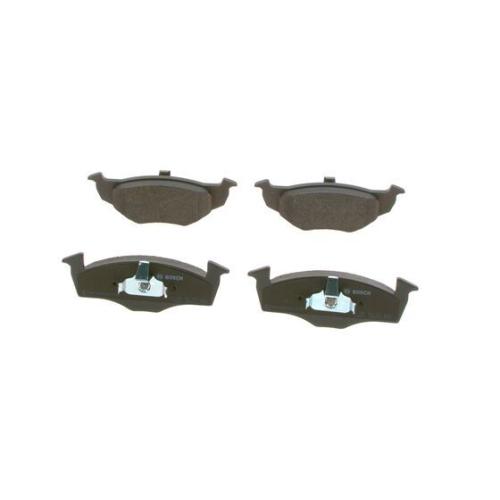 4 Bremsbelagsatz, Scheibenbremse BOSCH 0986494005 für VW, Vorderachse