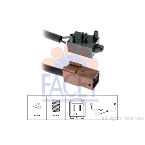 1 Schalter, Kupplungsbetätigung (GRA) FACET 7.1219 Made in Italy - OE Equivalent