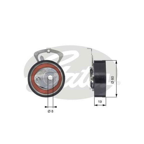 Spannrolle Zahnriemen Gates T43140 Powergrip® für Seat Skoda VW