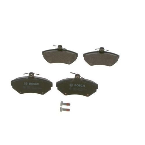 4 Bremsbelagsatz, Scheibenbremse BOSCH 0986494010 für VW, Vorderachse