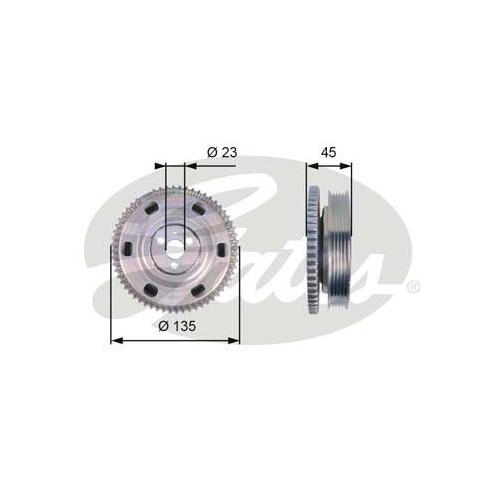 Riemenscheibe, Kurbelwelle GATES TVD1069 DriveAlign® FIAT LANCIA