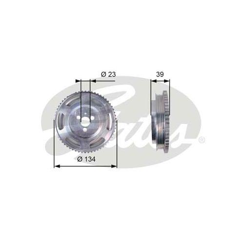 Riemenscheibe, Kurbelwelle GATES TVD1071 DriveAlign® FIAT