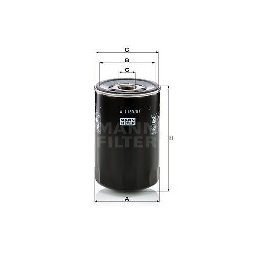 Filter Arbeitshydraulik Mann-filter W 1150/91 für Case Ih Sperry New Holland