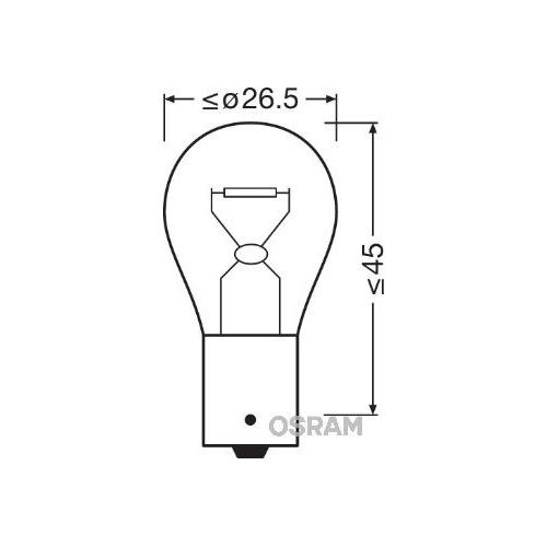 1 Glühlampe, Blinkleuchte OSRAM 7511 ORIGINAL für, hinten, seitlicherEinbau