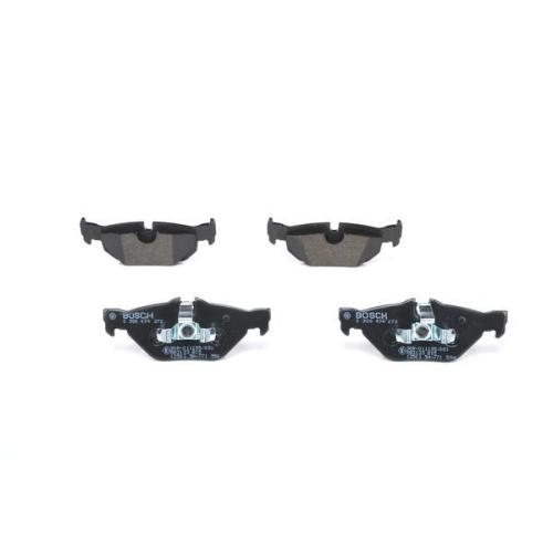 4 Bremsbelagsatz Scheibenbremse Bosch 0986494272 für Bmw Hinterachse