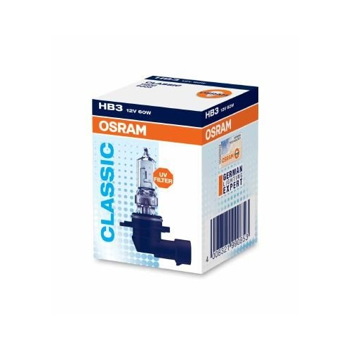 1 Bulb, spotlight OSRAM 9005 ORIGINAL for