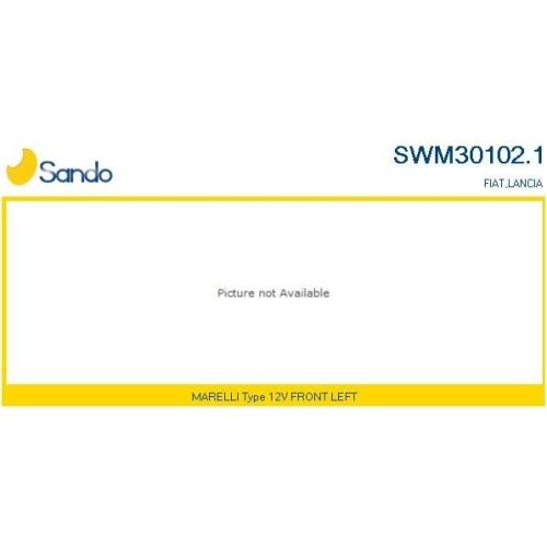 Wischermotor Sando SWM30102.1 für Fiat Vorne