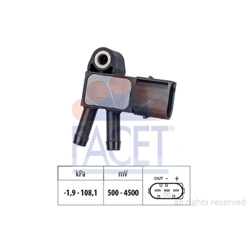 1 Sensor, Abgasdruck FACET 10.3294 Made in Italy - OE Equivalent MERCEDES-BENZ