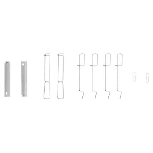 1 Zubehörsatz, Scheibenbremsbelag BOSCH 1987474195 RENAULT, Vorderachse