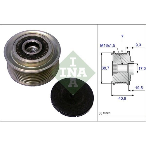 Generatorfreilauf Ina 535 0079 10 für Hyundai Kia