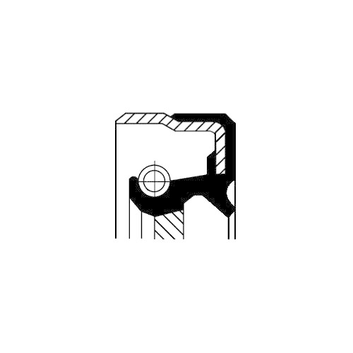 Wellendichtring Kurbelwelle Corteco 12015384B für Lancia Man Getriebeseitig