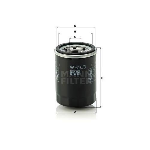 1 Ölfilter MANN-FILTER W 610/3 für CITROËN FIAT FORD ISUZU MAZDA MITSUBISHI OPEL