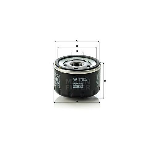 1 Ölfilter MANN-FILTER W 7003 für FIAT