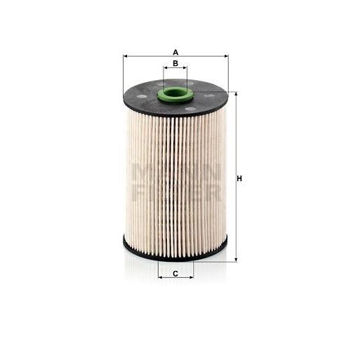 1 Kraftstofffilter Mann-filter PU 936/1 x für Vag
