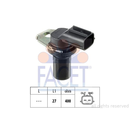 Drehzahlsensor Automatikgetriebe Facet 9.0308 Made In Italy - Oe Equivalent für