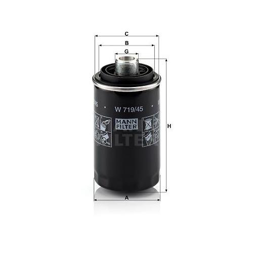 1 Ölfilter MANN-FILTER W 719/45 für VAG
