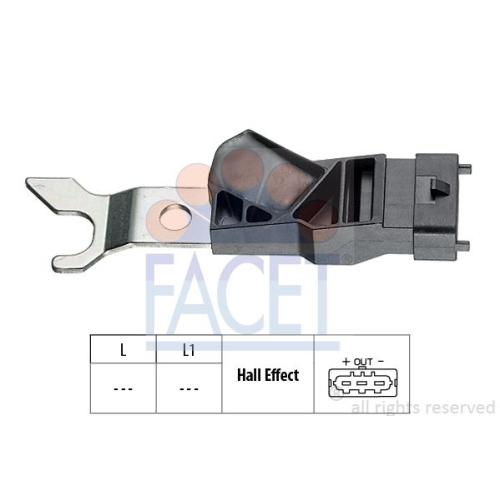 1 Sensor, Nockenwellenposition FACET 9.0311 Made in Italy - OE Equivalent für