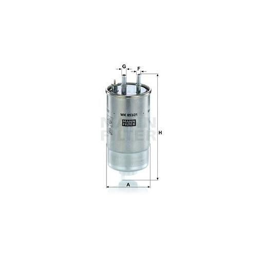 1 Kraftstofffilter MANN-FILTER WK 853/21 für CITROËN FIAT FORD OPEL PEUGEOT