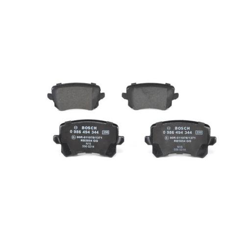 4 Bremsbelagsatz, Scheibenbremse BOSCH 0986494344 für AUDI SEAT SKODA VW