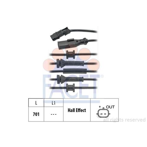 1 Sensor, Raddrehzahl FACET 21.0169 Made in Italy - OE Equivalent für RENAULT