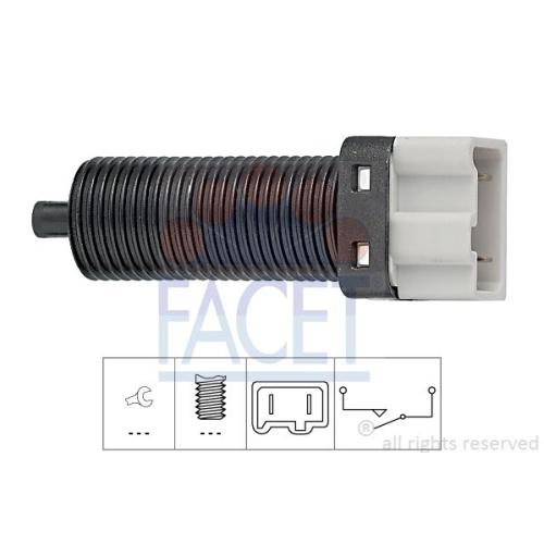 Schalter Kupplungsbetätigung (gra) Facet 7.1115 Made In Italy - Oe Equivalent