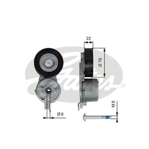 Riemenspanner, Keilrippenriemen GATES T39141 DriveAlign® FORD