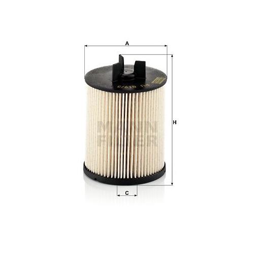 1 Kraftstofffilter MANN-FILTER PU 819/3 x für VAG