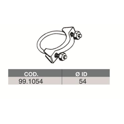 Rohrverbinder Abgasanlage Asso 99.1054 für Alfa Romeo Audi Bmw Chrysler Citroën
