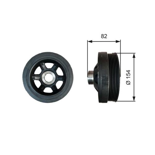 Riemenscheibe, Kurbelwelle GATES TVD1139 DriveAlign® MERCEDES-BENZ