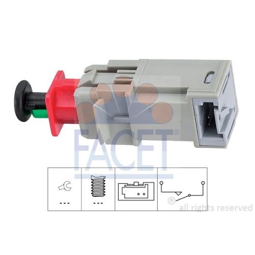 1 Schalter, Kupplungsbetätigung (GRA) FACET 7.1207 Made in Italy - OE Equivalent