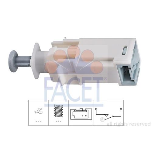 Schalter Kupplungsbetätigung (gra) Facet 7.1226 Made In Italy - Oe Equivalent