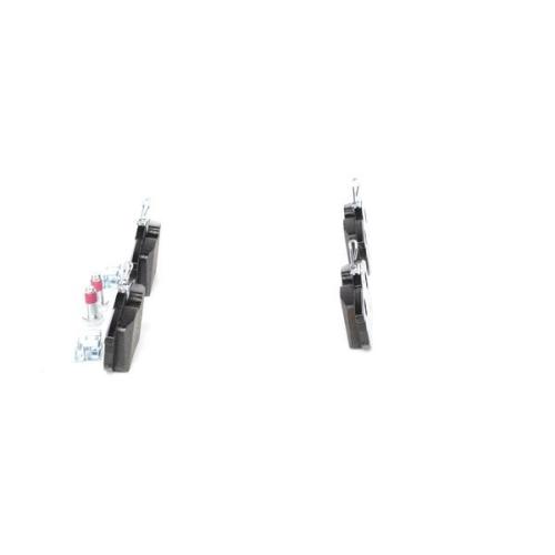 4 Bremsbelagsatz, Scheibenbremse BOSCH 0986424427 für MERCEDES-BENZ MITSUBISHI