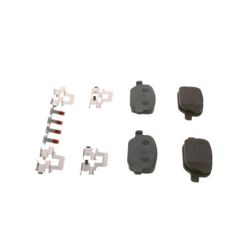 4 Bremsbelagsatz, Scheibenbremse BOSCH 0986424775 ALFA ROMEO FIAT LANCIA