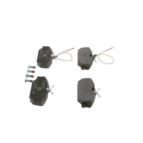 4 Bremsbelagsatz, Scheibenbremse BOSCH 0986461765 für RENAULT, Vorderachse