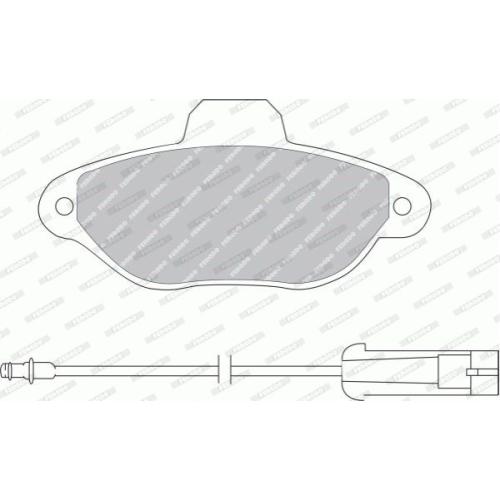 4 Bremsbelagsatz, Scheibenbremse FERODO FDB925B PREMIER für FIAT FORD LANCIA